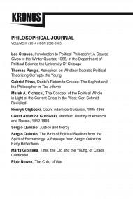 okładka KRONOS III/2014 Philosophical Journal. Ebook | papier | Praca zbiorowa Praca zbiorowa