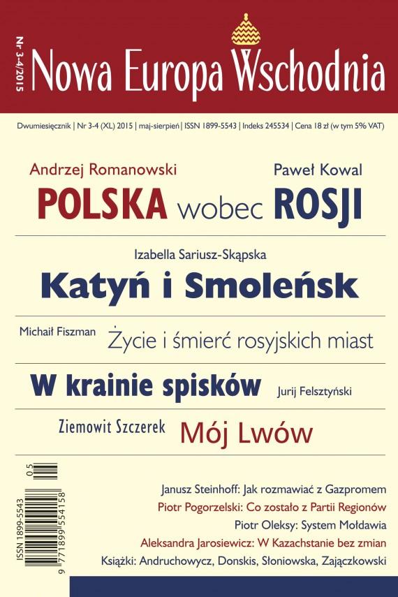 okładka Nowa Europa Wschodnia 3-4/2015. Ebook | EPUB, MOBI | zbiorowe zbiorowe
