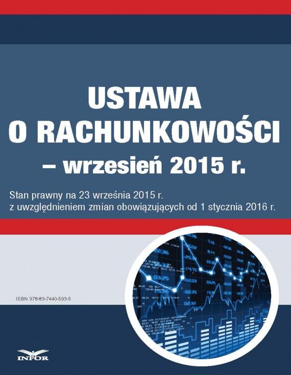 okładka Ustawa o rachunkowości - wrzesień 2015ebook | PDF | INFOR PL SA
