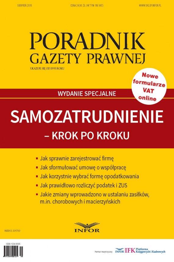 okładka Samozatrudnienie - Krok po Kroku (wydanie specjalne). Ebook | PDF | Grzegorz Ziółkowski