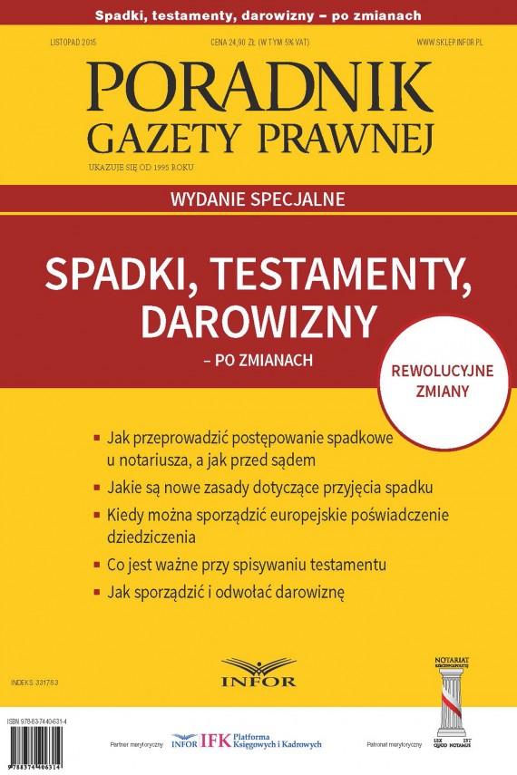 okładka Spadki, testamenty, darowizny po zmianachebook | PDF | INFOR PL SA