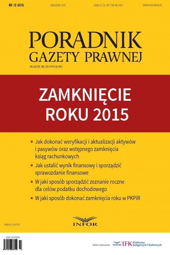 okładka Zamknięcie roku 2015ebook   PDF   INFOR PL SA