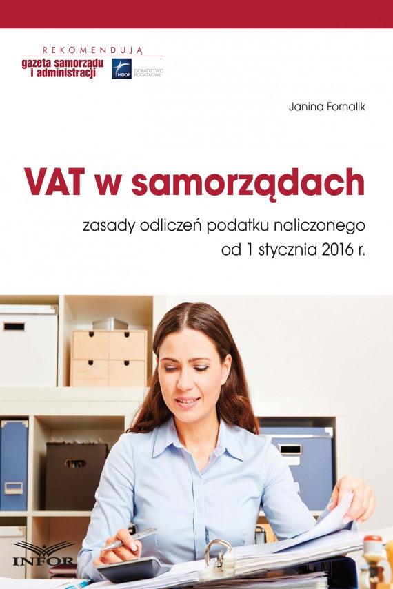 okładka VAT w samorządach. Ebook   PDF   Janina Fornalik