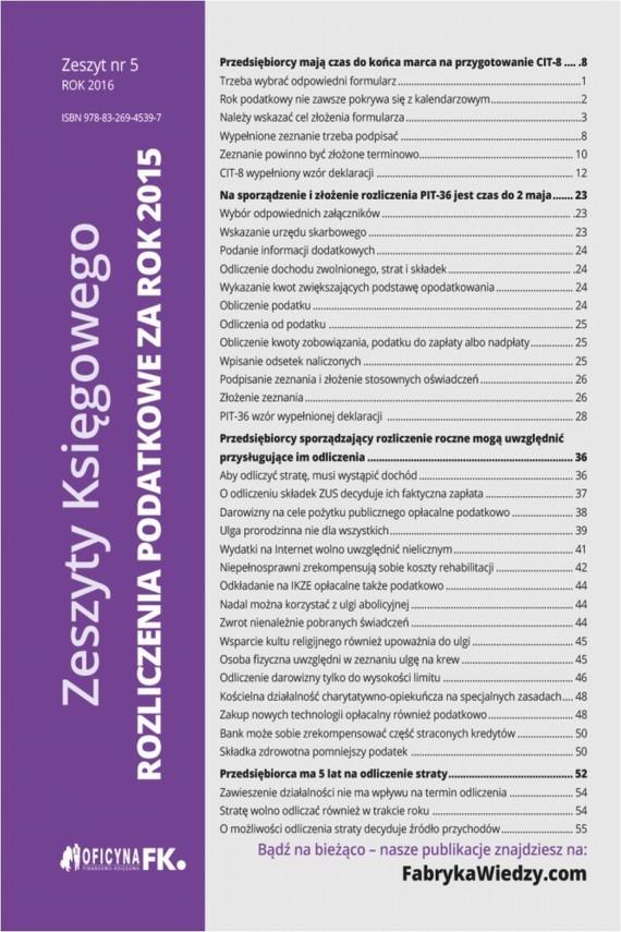 okładka Zeszyty Księgowego nr 5 Rozliczenia podatkowe za rok 2015. Ebook | EPUB, MOBI | Katarzyna  Trzpioła, Mariusz  Olech