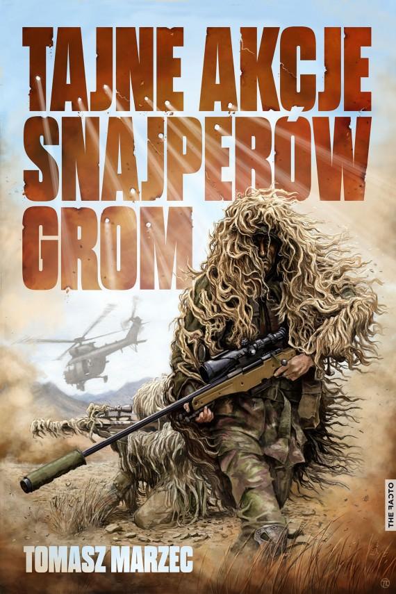 okładka Tajne akcje snajperów GROMebook | EPUB, MOBI | Tomasz  Marzec