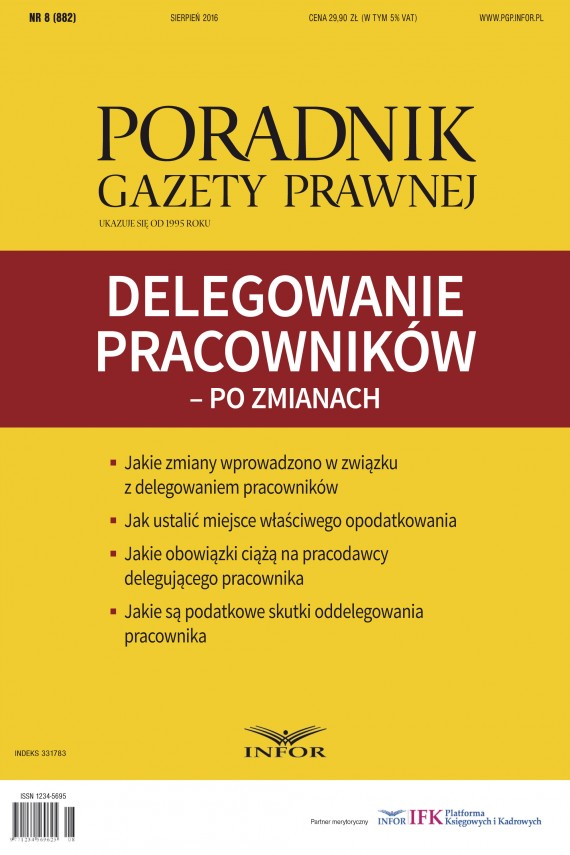 okładka Delegowanie pracowników – po zmianach/ Poradnik Gazety Prawnej. Ebook | PDF | Mariusz Makowski