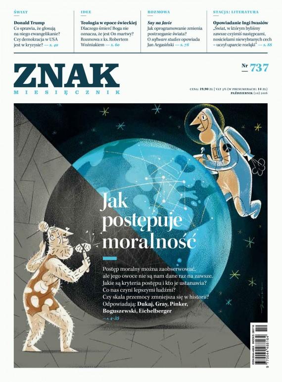 okładka ZNAK Miesięcznik nr 737:  Jak postępuje moralność. Ebook | EPUB, MOBI | autor  zbiorowy