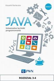 okładka JAVA. Uniwersalne techniki programowania. Rozdział 3-4. Ebook | papier | Krzysztof  Barteczko