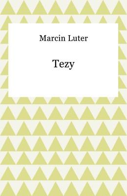 okładka Tezy, Ebook | Marcin Luter