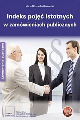 okładka Indeks pojęć istotnych w zamówieniach publicznych, Ebook | Maria  Olszewska – Kazanecka