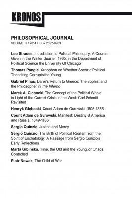 okładka KRONOS III/2014 Philosophical Journal, Ebook | Praca zbiorowa Praca zbiorowa