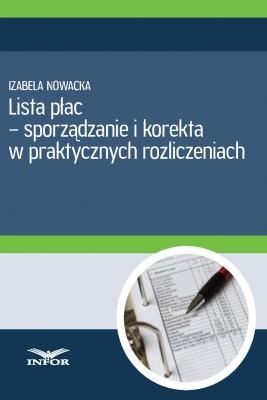 okładka Lista płac - sporządzanie i korekta, Ebook | Aldona Salamon