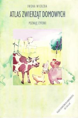 okładka Atlas zwierząt domowych. Poznaję cyferki, Ebook | Iwona  Wierzba