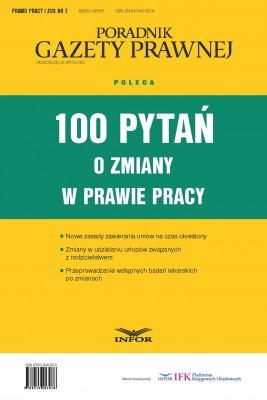 okładka 100 pytań o zmiany w prawie pracy, Ebook | INFOR PL SA