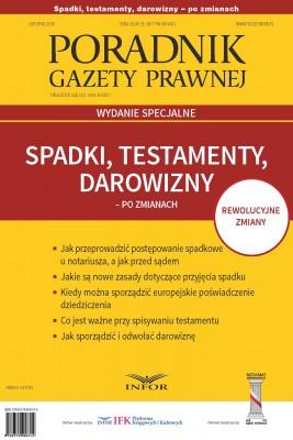 okładka Spadki, testamenty, darowizny po zmianach, Ebook | INFOR PL SA
