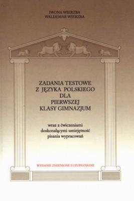 okładka Zadania testowe z języka polskiego dla pierwszej klasy gimnazjum, Ebook | Iwona  Wierzba