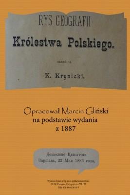 okładka Rys geografii Królestwa Polskiego 1887 opracowanie, Ebook | Konstany  Krynicki, Marcin  Gliński