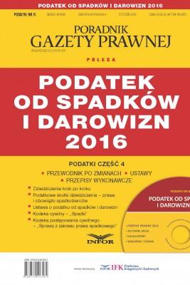 okładka Podatek od spadków i darowizn 2016, Ebook | INFOR PL SA