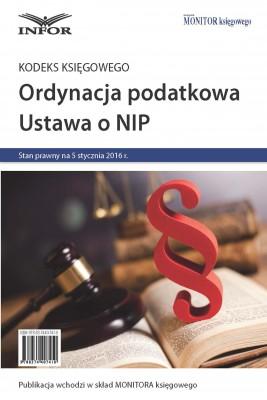 okładka Kodeks księgowego. Ordynacja podatkowa, NIP 2016, Ebook | INFOR PL SA
