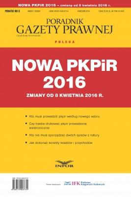 okładka Nowa PKPIR 2016 – zmiany od 8 kwietnia 2016 r., Ebook | INFOR PL SA