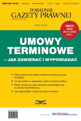 okładka Umowy terminowe – jak zawierać i wypowiadać, Ebook | INFOR PL SA