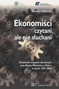okładka Ekonomiści czytani, ale nie słuchani. Ebook | PDF | Tomasz Sobczak