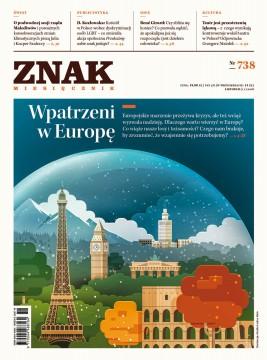 okładka ZNAK Miesięcznik nr 738: Wpatrzeni w Europę, Ebook | autor  zbiorowy
